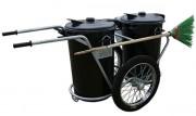 Chariot de propreté voirie - Capacité des conteneurs : 94 ou 110 L