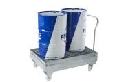 Chariot de rétention pour 2 fûts - Capacité de rétention : 220 litres