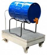 Chariot de rétention pour fûts - Capacité (L) : 220