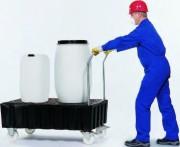 Chariot de rétention pour liquides corrosifs - Chariot de rétention