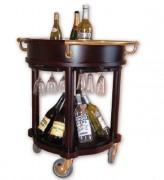 Chariot de service boissons alcoolisées - Dimensions (Diamètre x Hauteur) cm : 75 x 83