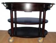 Chariot de service ovale - Dimensions (L x l x h) : 113 x 71 x 83 cm