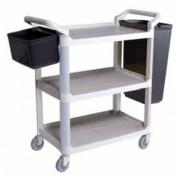 Chariot de service pour cuisine - 3 niveaux - Dimensions (L x l x H) cm : 102 x 50 x 96