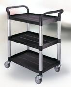 Chariot de service restauration collective - Dimensions (L x l x h) : 1000 x 850 x 480 mm