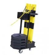 Chariot de stockage poteaux - Capacité : Jusqu'à 6 poteaux