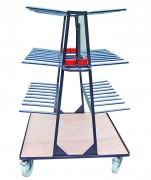 Chariot de transfert vertical - Entreposage à la verticale jusqu'à 2 m de longueur