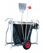 Chariot de voirie 1 ou 2 poubelles - Contenance (L) : 220 - 250
