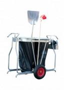 Chariot de voirie double conteneur - Capacité : 220 litres