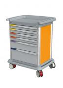 Chariot dossiers médicaux - Dimensions extérieures (mm) : 830 x 650 x 1100
