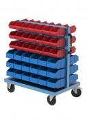 Chariot double face pour bacs à bec - Structure mécano-soudée   -  Dim : 40 x 40 x 2 mm