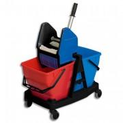 Chariot double seau 2 x 18L avec presse - Rubbermaid Commercial Products