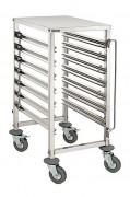 Chariot échelle inox - Capacité : 7, 15, 18 ou 20 bacs GN 1/1 (65 mm de profondeur)