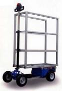Chariot electrique avec nacelle - Charge utile: 1 personne + 70 kg sur plat