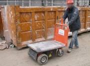 Chariot électrique double motorisation BTP - Tout terrain