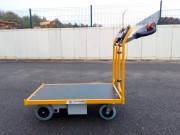 Chariot électrique pour manutention charges 150 kg - Système de conduite : tête de timon inclinaison réglable