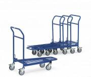 Chariot emboîtable à dossier - Charge (Kg) : 300
