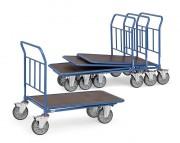 Chariot emboîtable à dossier fixe - Charge (kg) : 400 - 500 / Norme Européenne EN 1757-3