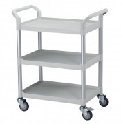Chariot en plastiques à 3 plateaux - Charge maximum : 250 / chariot - Structure en aluminium