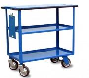 Chariot ergonomique 3 plateaux - Chariot 3 plateaux évolutif - Charge admissible : 400 kg