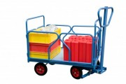 Chariot essieu directeur en acier - Charge utile : 500 Kg