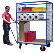 Chariot grillagé de manutention - Charge utile (kg) : 500
