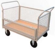 Chariot grillagé demi porte rabattable - Capacité de charge : 500 kg