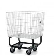 Chariot grillagé ergonomique - 4 roulettes pivotantes Ø100 mm 'CMM'