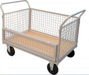 Chariot grillagé modulable - Avec ou sans demi-porte rabattable -  Capacité: 500 Kg