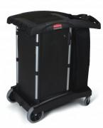 Chariot hôtelier compact - Dim : 97.2 x 55.9 x 111.8 cm - Matériau : Polypropylène/Aluminium - Coloris : Noir