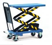 Chariot hydraulique double ciseaux - Charge : 500 Kg