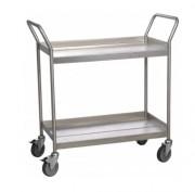 Chariot inox à 2 plateaux - Charge utile (Kg) : 300