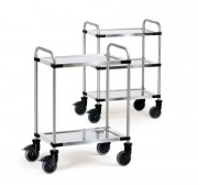 Chariot inox de cuisine - Charge (kg) : 120 - 150