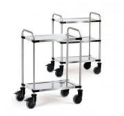 Chariot inox de cuisine - Charges : 120 - 150 kg