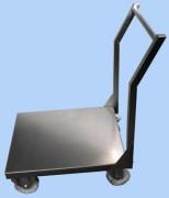Chariot inox plateau plein - Dimensions du plateau selon vos besoins