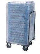 Chariot inox porte casiers - Dimensions ( L x P x H) : 587 x 587 x 200 ou 900 mm