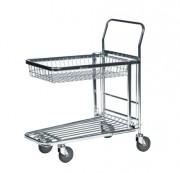 Chariot libre service électro-galvanisé - Capacité (kg) : 300