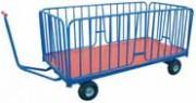 Chariot manipulateur à ridelles amovibles - Plate-forme à timon - Charge de 1000 Kg