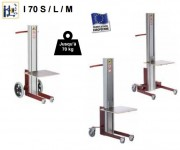 Chariot manipulateur électrique cartons - Course 0,8 / jusqu'à 1,6 m