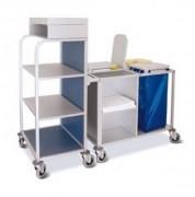 Chariot médical de transport linge - En aluminium anodisé