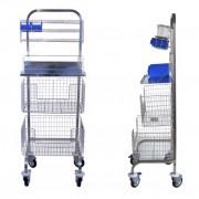 Chariot médical en inox - Inox - Niveaux d'accessoires : 2 ou 3 accessoires