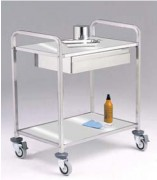 Chariot médical multi usage - 2 plateaux - Dimensions (mm) : 400 x 400