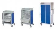 Chariot médical multi-usage - Hauteur (mm) :1000 - 1190 - 1440