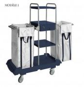 Chariot ménage hôtel - Chariot hôtelier pour le ménage et le nettoyage - Disponible en 2 modèles