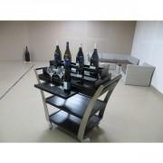 Chariot mini bar sur base orphée - Dimensions (L x l x H) cm : 108 x 53 x 105