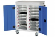 Chariot mobile pour ordinateur - Capacité : 16 casiers
