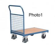 Chariot modulaire à dossiers grillagés - Capacité de charge : 400 - 500 kg