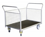 Chariot modulaire à ridelle grillagé - Charge utile : 500 Kg
