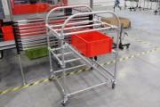 Chariot modulaire pour bacs - Servante bord de ligne Lean