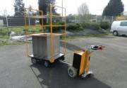Chariot motorisé électrique - Train de conteneurs à 4 roues