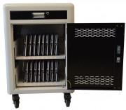 Chariot multimédia 16 tablettes - indicateur de charge à LED - chargement et synchronisation 16 tab